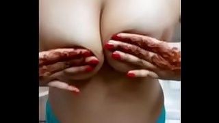Busty Indian MILF Fondling Her Tits
