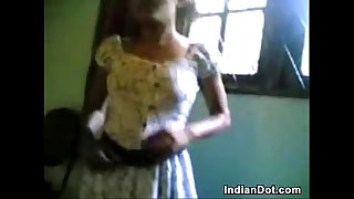 Cute Indian Teen Girl Washes Her Body