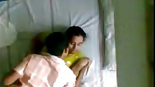 Indian Kerala aunty and husbands junior bro hidden camera
