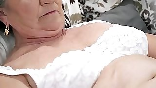 Old wooly pussy filled with young cock